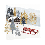Christmas Chalet II Premium Giclee Print by Victoria Borges
