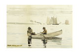Boys Fishing, Gloucester Harbor, 1880 Giclee Print by Winslow Homer