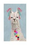 Adorned Llama II Reproduction giclée Premium par Victoria Borges