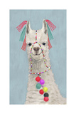Adorned Llama II Premium Giclee Print by Victoria Borges