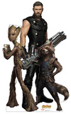 Avengers: Infinity War - Groot, Thor and Rocket Racoon Cardboard Cutouts