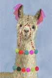 Adorned Llama III Premium Giclee Print by Victoria Borges