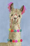 Adorned Llama III Impressão giclée premium por Victoria Borges