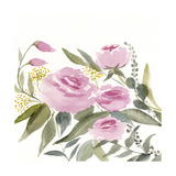 Rosebud Watercolor II Premium Giclee Print by Victoria Borges
