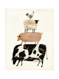 Barnyard Buds III Premium Giclee Print by Victoria Borges