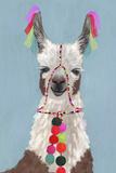 Adorned Llama I Giclée-Premiumdruck von Victoria Borges