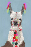 Adorned Llama I Premium Giclee Print by Victoria Borges