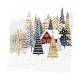 Christmas Chalet I Premium Giclee Print by Victoria Borges