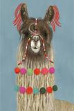 Adorned Llama IV Premium Giclee Print by Victoria Borges