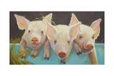 Life as a Pig I Premium Giclee Print by Carolyne Hawley