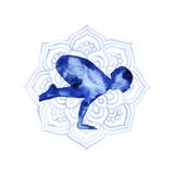 Yoga Flow IV Premium Giclee Print by Grace Popp