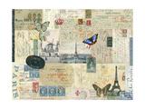 Postcards of Paris I Giclée-Premiumdruck von Sandy Lloyd
