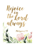 Grace Words Floral II Premium Giclee Print by  Studio W