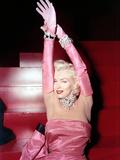 "Marilyn Monroe. ""Gentlemen Prefer Blondes"" [1953], Directed by Howard Hawks. Impressão em tela esticada"