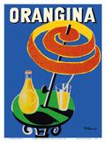 Orangina Sparkling Soda - Umbrella Ad Posters tekijänä Bernard Villemot