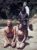 "Charlton Heston; Linda Harrison. ""Planet of the Apes"" [1968], Directed by Franklin J. Schaffner. Impressão em tela esticada"