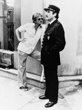 """Blake Edwards; Peter Sellers. """"The Return of the Pink Panther"""" [1975], Directed by Blake Edwards. Stretched Canvas Print"""
