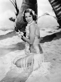 "Eleanor Powell. ""Honolulu"" [1939], Directed by Edward Buzzell. Opspændt lærredstryk"