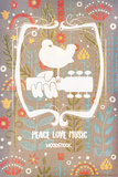 Woodstock - Peace Love Music Posters