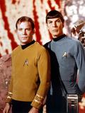 """Leonard Nimoy; William Shatner. """"Star Trek"""" [1966]. Opspændt lærredstryk"""