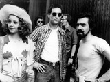 "Jodie Foster; Martin Scorsese; Robert De Niro. ""Taxi Driver"" [1976], Directed by Martin Scorsese. キャンバスプリント"