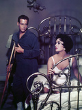 "Paul Newman; Elizabeth Taylor. ""Cat on a Hot Tin Roof"" [1958], Directed by Richard Brooks. Impressão em tela esticada"