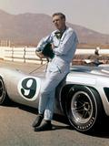 """Steve Mcqueen. """"Le Mans"""" [1971], Directed by Lee H. Katzin. Trykk på strukket lerret"""