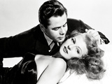 "Glenn Ford; Rita Hayworth. ""Gilda"" [1946], Directed by Charles Vidor. Toile tendue sur châssis"