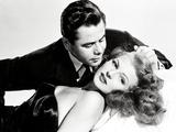 """Glenn Ford; Rita Hayworth. """"Gilda"""" [1946], Directed by Charles Vidor. Impressão em tela esticada"""