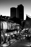 Tourists walking in the street, Bourbon Street, French Quarter, New Orleans, Louisiana, USA Impressão fotográfica
