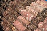 Detail of the Qutub Minar, New Delhi, India Impressão fotográfica