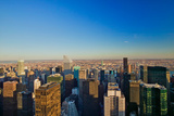 """Panoramic views of New York City at sunset looking toward Central Park from Rockefeller Square """"... Impressão fotográfica"""
