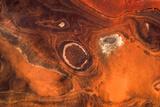 Satellite view of desert area, Tamanrasset, Algeria Fotografisk tryk