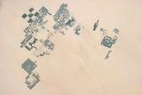 Satellite view of fields in North Darfur, Sudan Fotografisk tryk