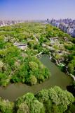 Aerial view of Central Park in spring near Columbus Circle in Manhattan, New York City, New York Impressão fotográfica