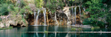 Waterfall in a forest, Hanging Lake, White River National Forest, Colorado, USA Lámina fotográfica
