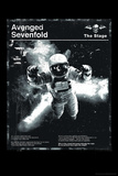 Avenged Sevenfold - Black and White Astronaut Poster