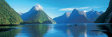 View of the Milford Sound, Fiordland National Park, South Island New Zealand, New Zealand Fotografisk trykk