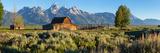 T. A. Moulton Barn in field, Mormon Row, Grand Teton National Park, Wyoming, USA Valokuvavedos