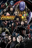 Avengers: Infinity War - Thanos and Avengers ポスター