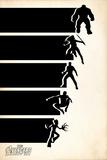 Avengers: Infinity War - Minimal Retro (Black) Poster