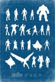 Avengers: Infinity War - Heroes Grid Print