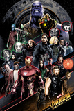 Avengers: Infinity War - Group Diagonal Kunstdruck