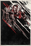 Avengers: Infinity War - Red and Black Streaks Poster