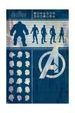 Avengers: Infinity War - Heroes Chart Plakater