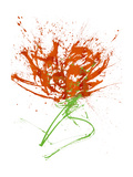 Gestural Florals 13 プレミアムジクレープリント : Paul Ngo