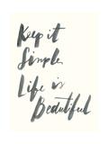 Blue Keep it Simple Giclée-Premiumdruck von Erin Lin