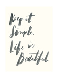 Blue Keep it Simple Stampa giclée premium di Erin Lin