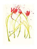 Gestural Florals 5 プレミアムジクレープリント : Paul Ngo