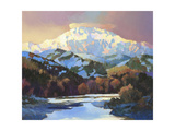Snow in the Foothills Premium Giclee Print by Max Hayslette